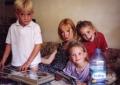 Grandson Filipe, Madeleine, grandaughters Francesca and Susan.