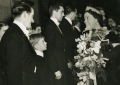 Meeting the Queen at The Royal Command Performance of the Mudlark, October 30 1950.