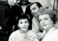 With fellow Taste of Honey cast members (clockwise, from left to right) Billy Dee Williams, Nigel Davenport, Angela Lansbury and Joan Plowright. The play ran on Broadway from 1960-61.
